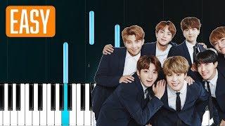 "Video thumbnail of ""BTS - ""Fake Love"" 100% EASY PIANO TUTORIAL"""