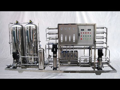how RO water treatment works in animation& Reverse osmosis purifier operated in factory 反滲透水處理設備