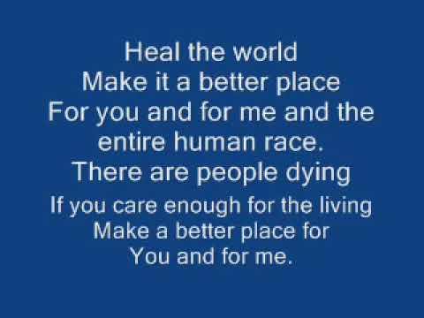 Michael Jackson - Heal the world (LETRA)