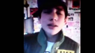 "Austin mahone singing ""I'll never let you go"""