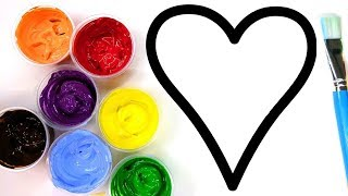 Painting Heart, Painting Pages for Children to Learn Painting 💜