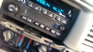 How to unlock gm radios 2000-2005