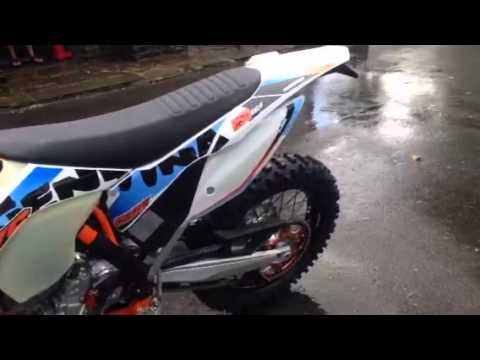 2015 ktm 250exc-f SIX DAYS start up!!