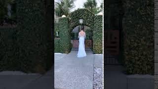 Celeste Silk Chiffon Wedding Gown | Behind The Shoot