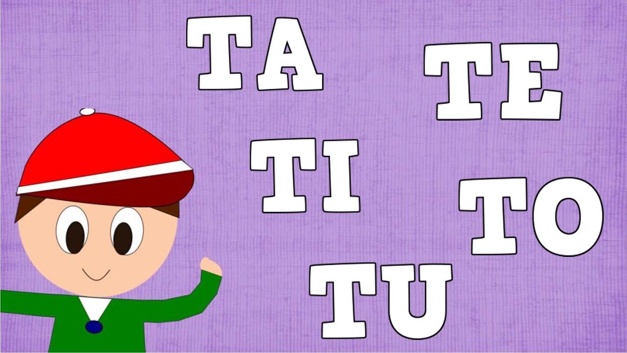 Sílabas TA TE TI TO TU - Syllable with T - Aprender a leer