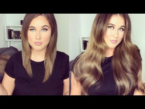 Clip-In Extensions anbringen + Styling mit Elegance Hair I Marina Si