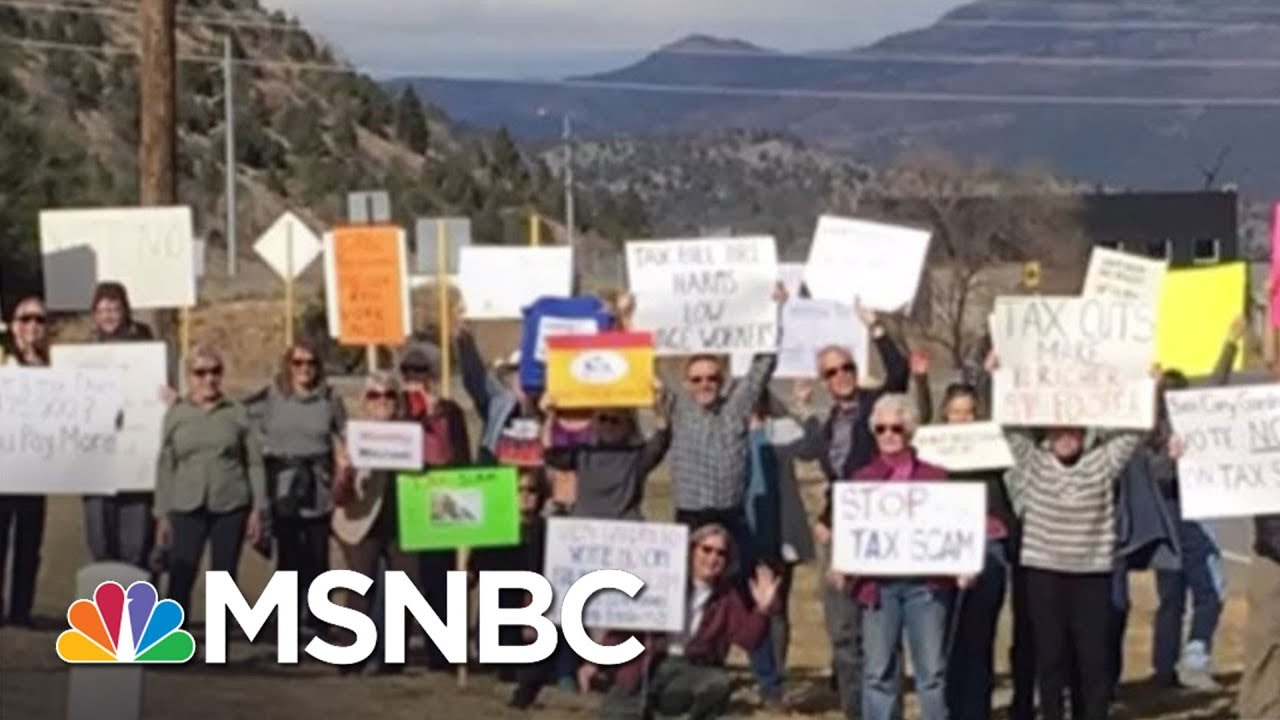 Facing Widespread Protest GOP Pushes Tax Bill In Party-Line Vote   Rachel Maddow   MSNBC thumbnail