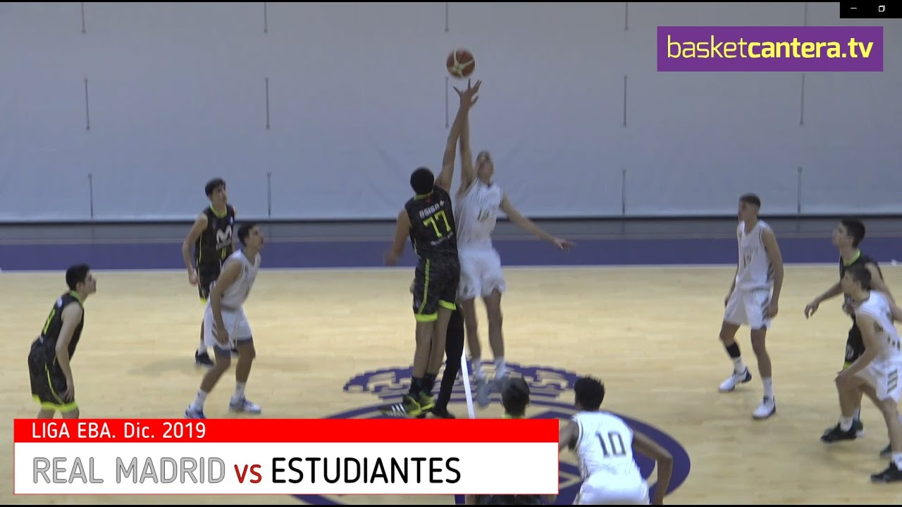 EBA - REAL MADRID vs ESTUDIANTES.- Liga EBA (Dic. 2019)