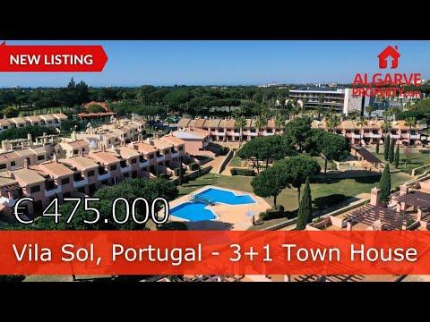 Vila-Sol, Algarve, Portugal, Paradis du Golfe, maison de ville V4, entièrement meublée avec un grand
