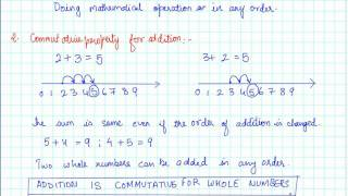 09 Commutativity for addition and subtraction of whole numbers CBSE MATHS