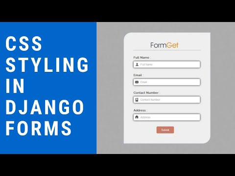 How Style the Forms Created by Model Forms in Django thumbnail