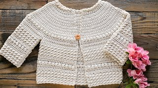 How To Crochet The Aunalie Baby Sweater
