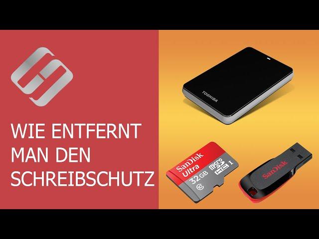Wie entfernt man den Schreibschutz von einem USB-Stick, einer SD-Karte oder einer Festplatte