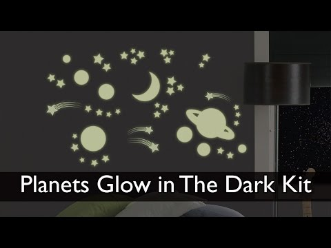 Planets Glow In The Dark Wall Art Kit