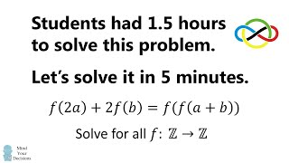 Solving An Insanely Hard Problem For High School Students