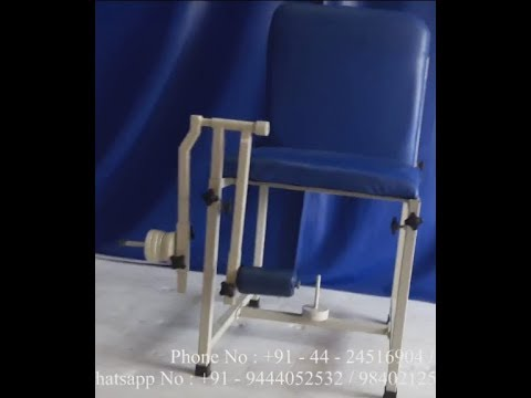 Quadriceps Tables with Backrest Chairs