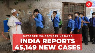 Coronavirus on October 26, India reports 45,149 new Covid cases - Download this Video in MP3, M4A, WEBM, MP4, 3GP