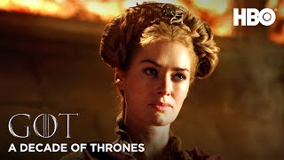 A Decade of Game of Thrones | Lena Headey on Cersei Lannister (HBO)