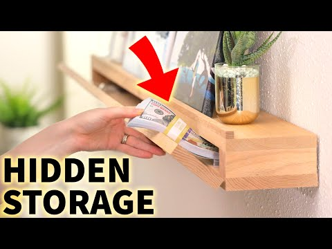 Hiding $50,000 in our DIY *Secret Compartment* Art Ledge