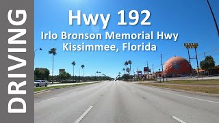 Driving On Hwy 192 In Kissimmee, Florida From Walmart To Walmart