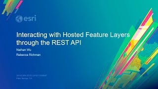 Interacting with Hosted Feature Layers through the REST API
