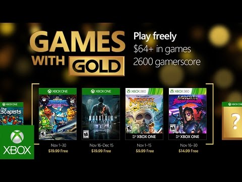 Games with Gold : les jeux de novembre 2016