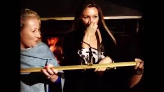 The Shot Ski in action...