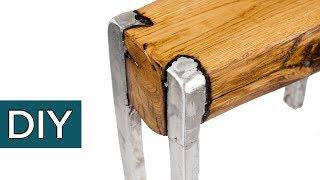 Сплав  ДЕРЕВА и АЛЮМИНИЯ. Секретная технология. Как сделать мебель своими руками. #стройхак