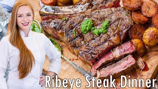 Ribeye Steak & Potatoes Dinner