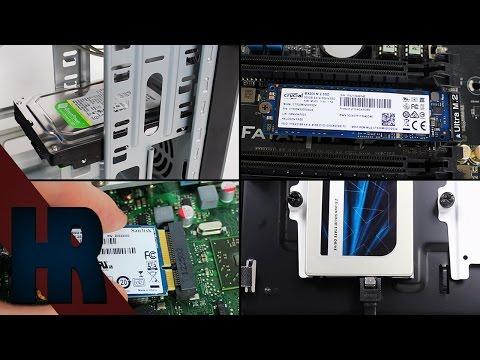 Festplatte | SSD | M2 SSD | M SATA SSD einbauen  Installieren Tutorial Deutsch - PC Bauen Part #7