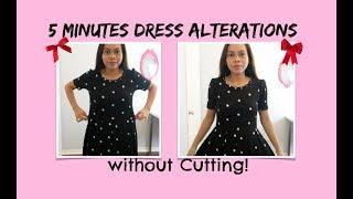 DIY 5 MINUTES DRESS TRICKS TUTORIAL, SEWING FOR BEGINNERS
