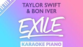 Taylor Swift, Bon Iver - exile (Karaoke Piano)