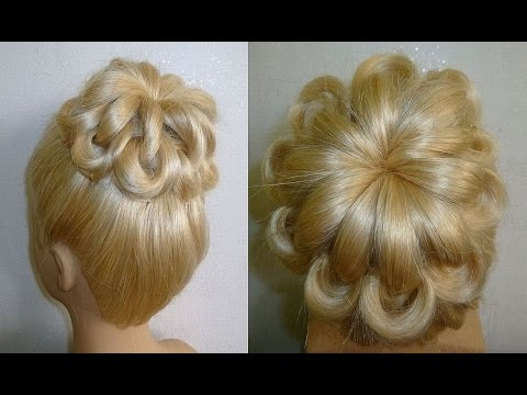 Einfache Frisuren:Hochsteckfrisur.Flechtfrisuren.Zopffrisur.Donut Hair Bun Updo Hairstyles.Peinados