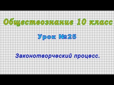 Обществознание 10 класс (Урок№25 - Законотворческий процесс.)