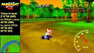 MK64 - former world record tie on DK's Jungle Parkway - 42''50 (NTSC: 35''35)