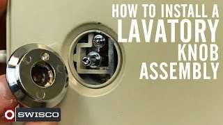 How to install the 10-556 lavatory knob assembly.