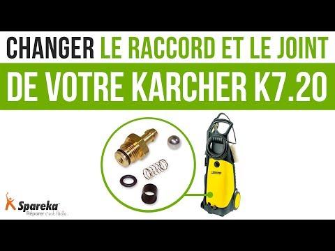 Comment changer le raccord et le joint de votre Karcher K7.20 ?