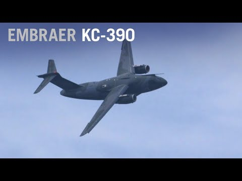 Embraer KC-390 Military Transport Flying Display at Paris Air Show 2017 – AINtv Express