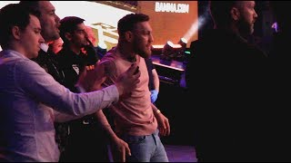 Conor McGregor Turns Up Cageside At BAMMA 35 To Cheer On Teammate Kiefer Crosbie To Victory