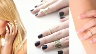 How To Wear Midi Rings