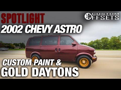 Spotlight - 2002 Chevy Astro Van, Dayton Knock-Offs, Custom Paint