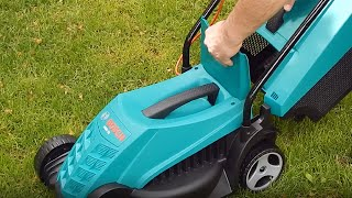 Unboxing assembling and testing BOSCH ARM(Rotak) 32 1200W Lawnmower - Bob The Tool Man