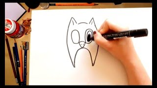 Como dibujar un Buho - dibujos para niños