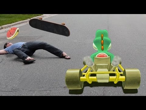 Mario Kart in Real Life (3D Chalk Art) – AWE me Artist Series