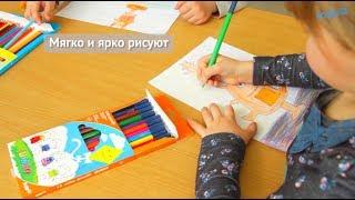 """Цветные карандаши трехгранные Jolliers 12 цветов TM Kite K19-048-5 от компании Интернет-магазин """"Радуга"""" - школьные рюкзаки, канцтовары, творчество - видео"""