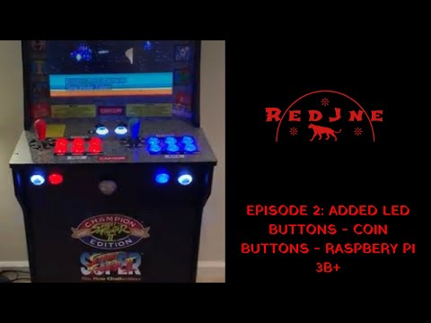 Arcade1up Custom Street Fighter Raspberry Pi Mod with LED