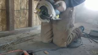 Cutting concrete with a skil saw