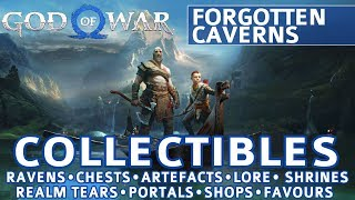God of War - Forgotten Caverns All Collectible Locations (Ravens, Chests, Artefacts, Shrines) - 100%