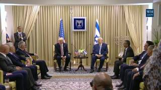 President Trump Participates in a Bilateral Meeting with President Reuven Rivlin of Israel