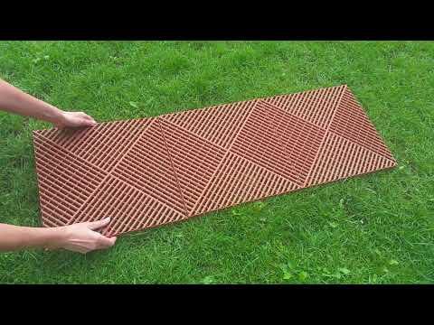 Plastikust plaat 40x40cm, pruun hind ja info | Terrassipõrandad | kaup24.ee